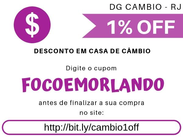 Cupom de desconto para casa de câmbio DG Cambio no Rio de Janeiro e Grande Rio