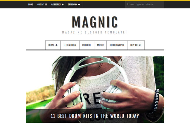Magnic - Magazine Responsive Blogger Template