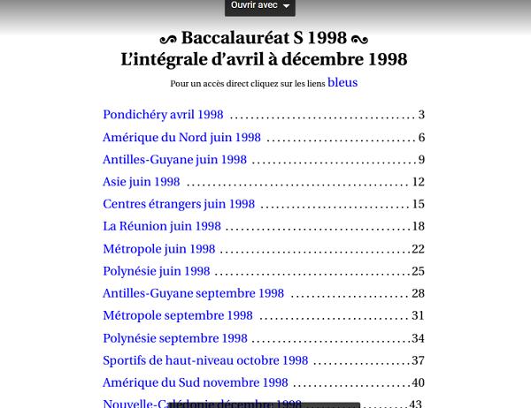البكالوريات الفرنسية من سنة 1998-2016 جاهزة للتحميل المباشر