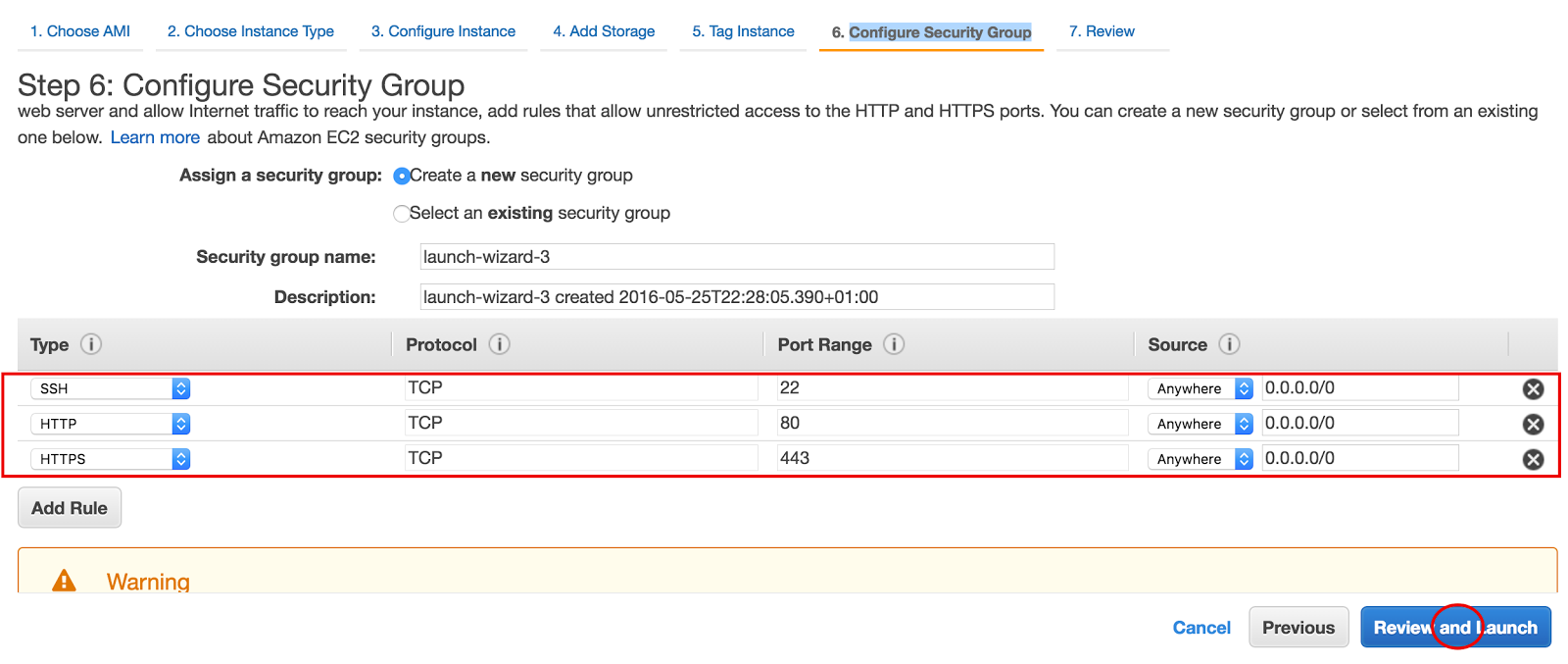 Ec2 security group setup