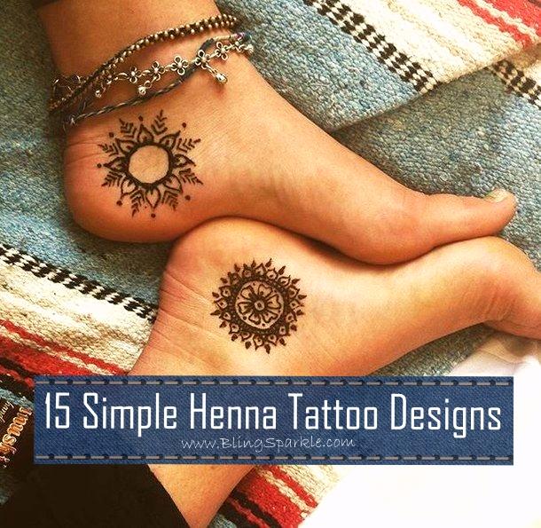 dbf93127b 15 Simple Henna Tattoo Mehndi Designs   Bling Sparkle