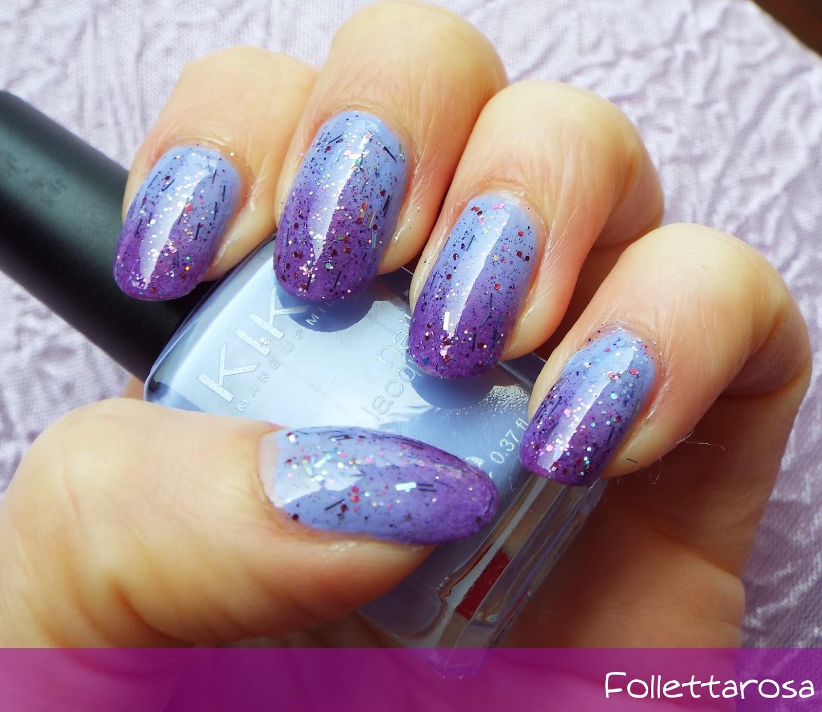 Estremamente Ombre lilla nail art facile GU51