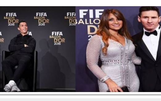 شاهدوا صورة رونالدو وزوجة ميسي التي أثارت الجدل والسخرية خلال حفل الكرة الذهبية!