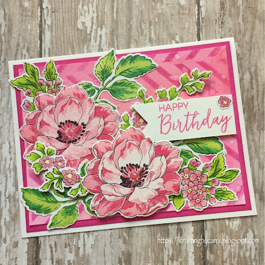 Pink Floral Happy Birthday