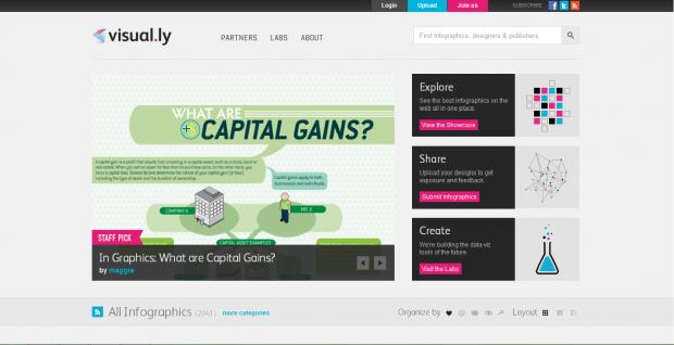26d461acdfc8 Visual.ly è un altro strumento online che consente agli utenti di  realizzare delle storie