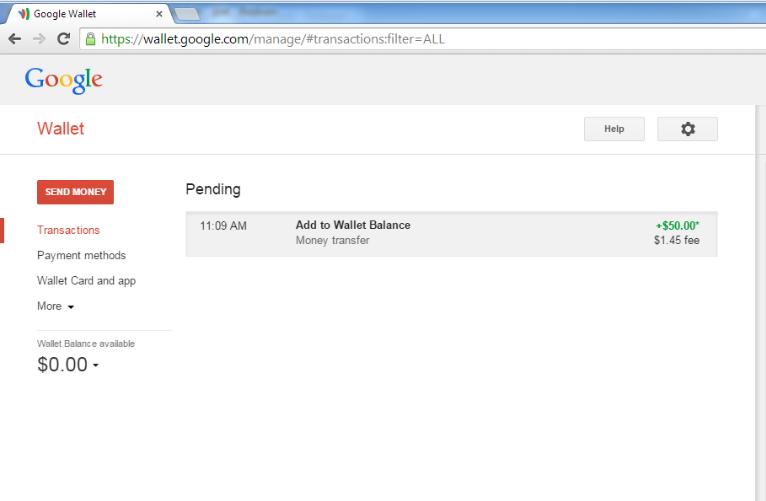 google wallet carding method