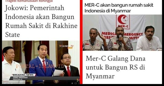 """""""Klaim"""" Jokowi Pemerintah Indonesia Bangun RS di Rakhine State (Rohingya), Ini Tanggapan MER-C"""