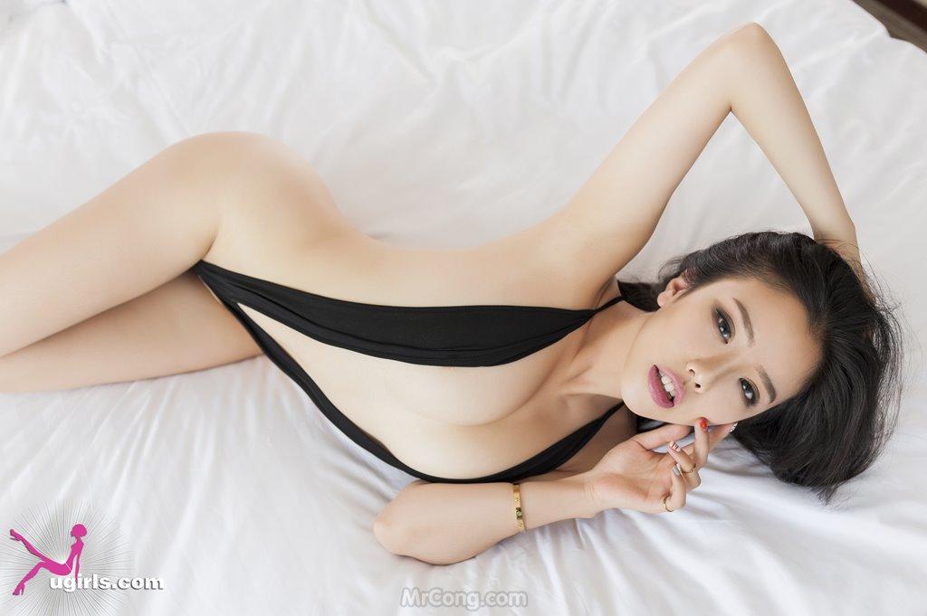 Image MrCong.com-UGIRLS-035-Ni-Xiao-Yao-019 in post Mê mẩn ngắm vòng một nở nang của người đẹp Ni Xiao Yao (妮小妖) trong bộ ảnh UGIRLS 035