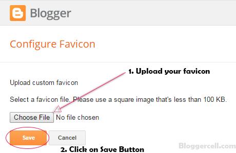 Upload Favicon to Blogger