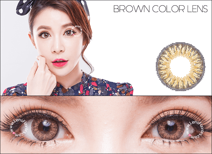 geo tricolor brown circle lenses