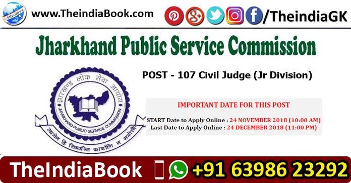 JPSC Recruitment for 107 Civil Judge Posts 2018