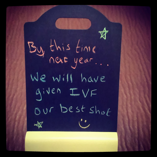 By this time next year, we will have given IVF our best shot