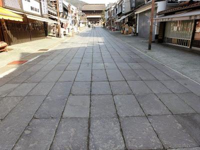 善光寺参道の敷石
