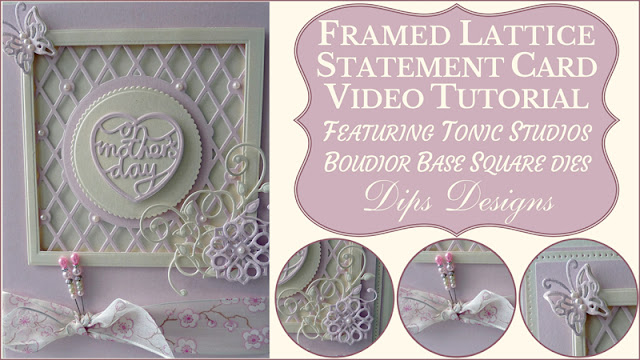 Framed Lattice Statement Card Step-by-Step Tutorial