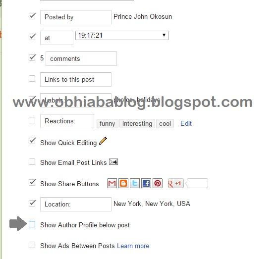 Show Default Author Bio Box In Blogger