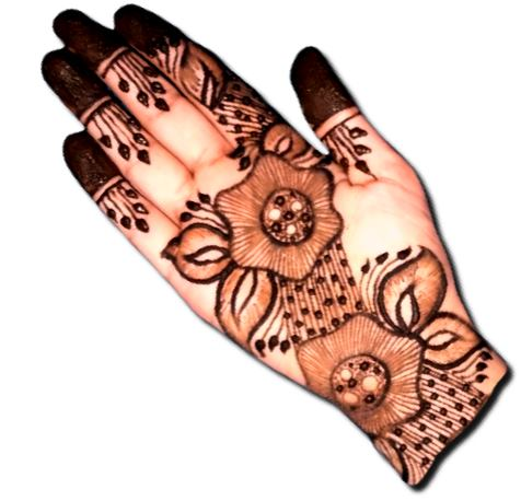 Floral Mehndi Designs for Front Hand