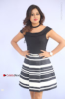 Actress Mi Rathod Pos Black Short Dress at Howrah Bridge Movie Press Meet  0053.JPG