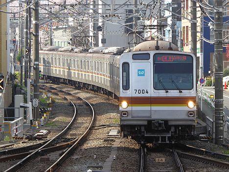 東京メトロS運用の東急東横線 通勤特急 森林公園行きが登場!しかも7000系!