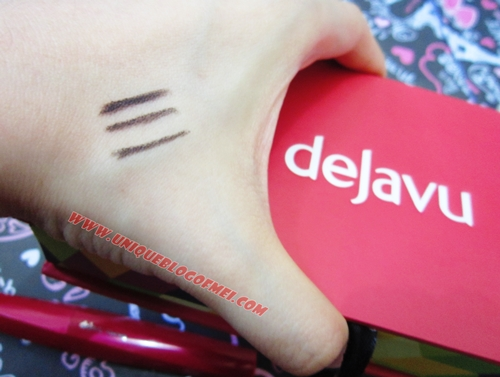 Dejavu Lasting Fine Eyeliner swatches