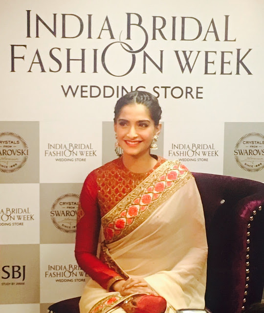 Sonam Kapoor at the launch of India Bridal Fashion Week  Wedding Store