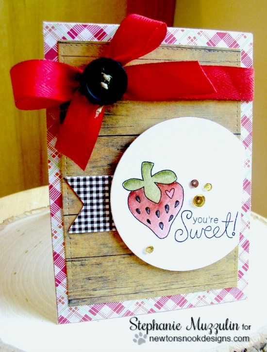 You're Sweet Card by Stephanie Muzzulin | Sweet Summer Stamp set by Newton's Nook Designs #newtonsnook