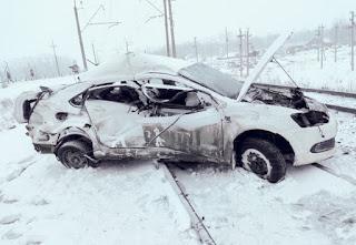 Смертельная авария под Уфой: в Нагаево поезд сбил автомобиль