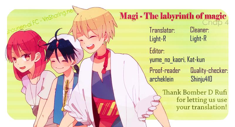 Magi The Labyrinth of magic chapter 4 trang 1
