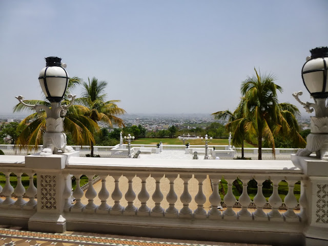 Falaknuma Palace Images: the terrace looking out over Hyderabad