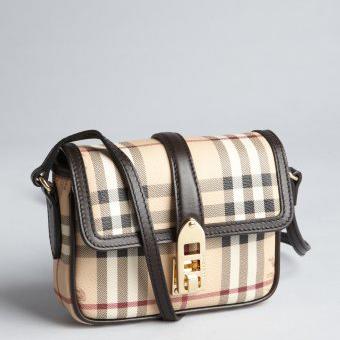 2406d9fd424 Burberry Small Haymarket Check Crossbody Bag | Polka B - Authentic ...