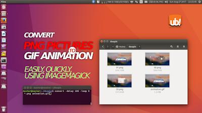 Convierte imágenes .png a .gift animados con retardo usando Imagemagick