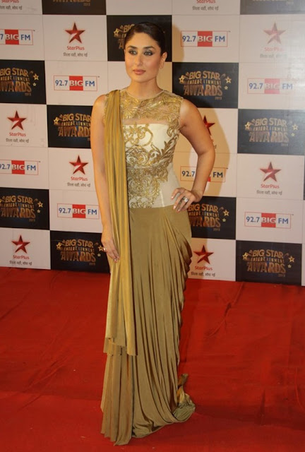 Kareena Kapoor in variation of Guajarati saree