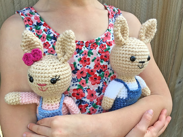 Mini Crochet Berry Patch Bunnies - Part 2