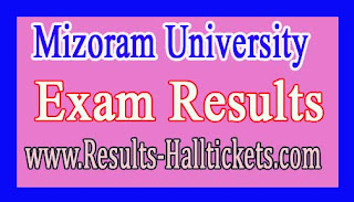 Mizoram University B.Tech (Social Work) IVth Sem 2014 Batch Exam Results