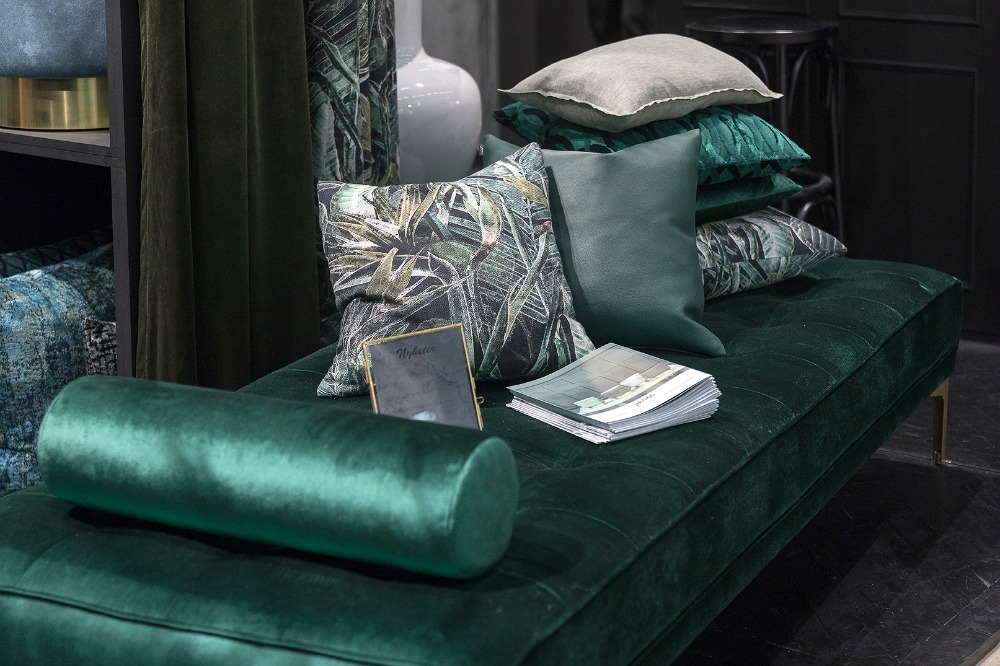 Formex, tradefair, sisustus, sisustaminen, inredning, interior, inspiration, spring, trends, trend, Visualaddict, photography, Frida Steiner, decor, decoration, trends2018, colours, home, colors, green, daybed, velvet