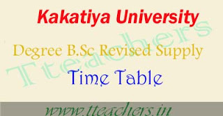 KU Degree B.Sc supply 1st 2nd final year revised postponed time table 2016