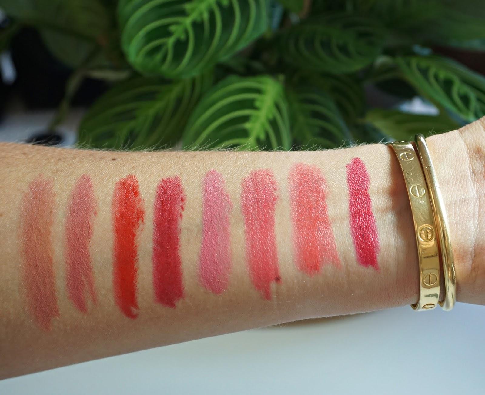 cle de peau lipstick cashmere swatches
