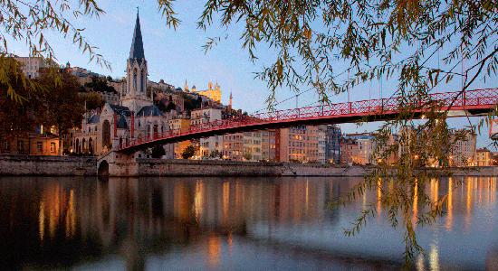 Cidade de Lyon, na França