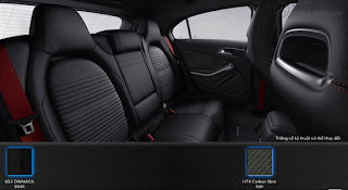Mercedes A250 2017 màu nội thất Đen 651