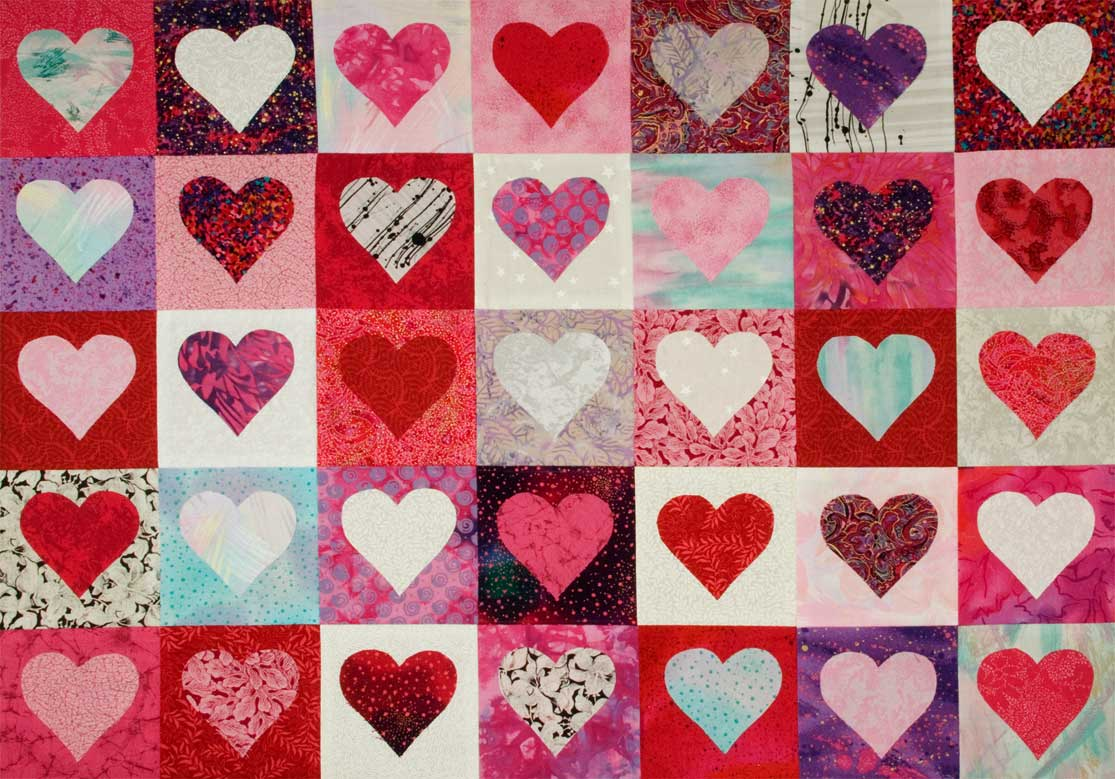 Click below to see a Heart Quilt