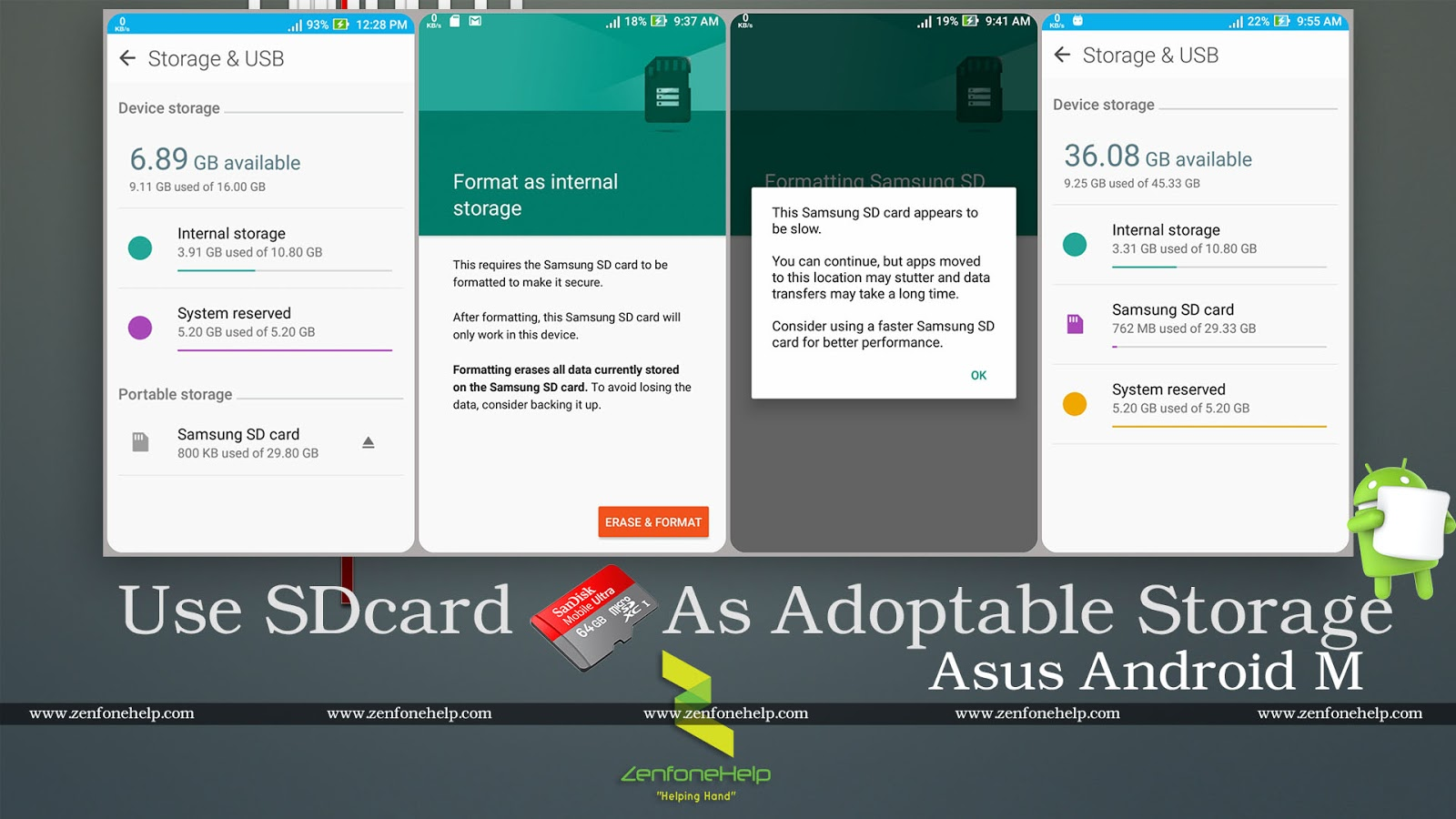 Asus Zenfone SDcard to Adoptable Storage   ZenFone Help