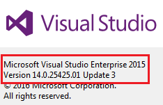 how to check version of visual studio