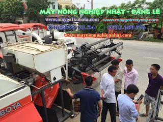 xuất giao bán máy gặt Kubota DC 70  đi Lạng Giang Bắc Giang
