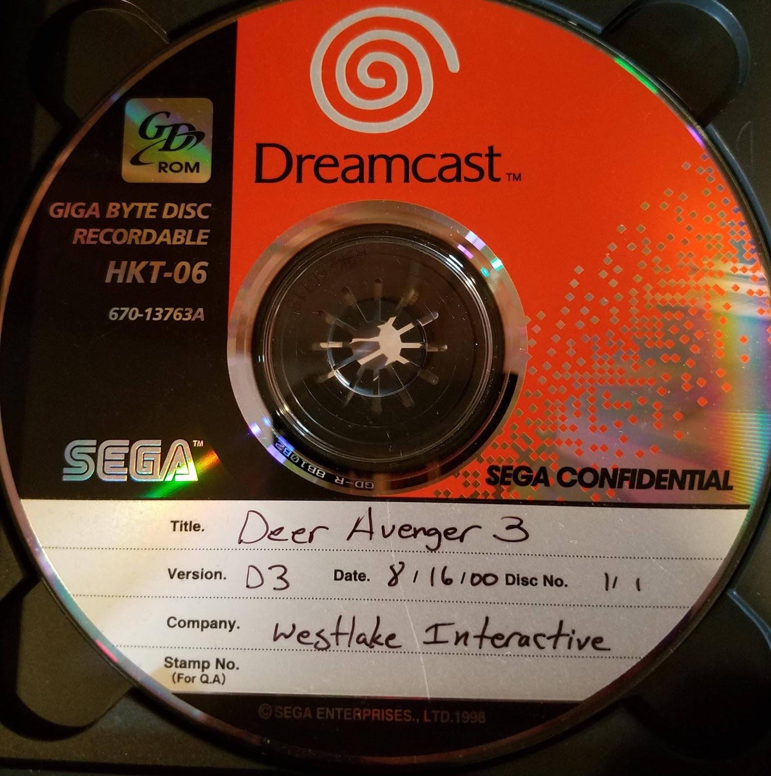 The Dreamcast Junkyard: Unreleased Dreamcast Game Deer Avenger 3