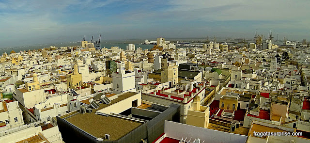 Cádiz vista do topo da Torre de Tavira