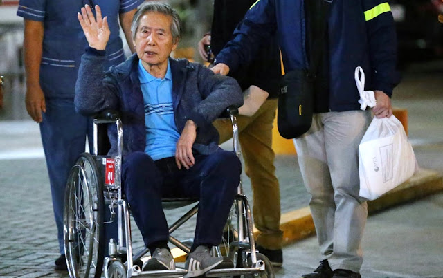 Alberto Fujimori es trasladado al penal de Barbadillo en Ate