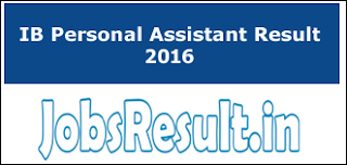 IB Personal Assistant Result 2016