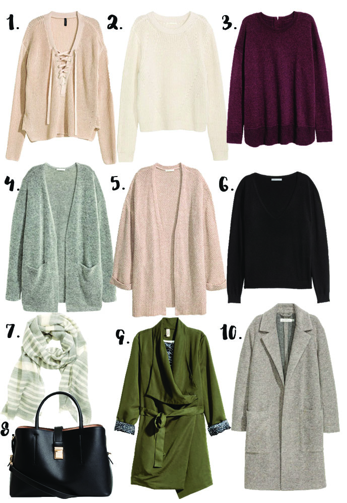 h&m knit sweaters and cardigans outfits