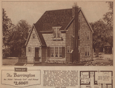 Sears Barrington 1927 catalog image dormer roof look same as 1926