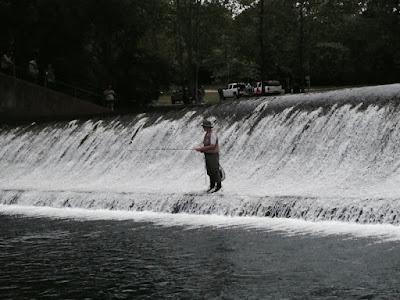 The dam at Bennett Spring