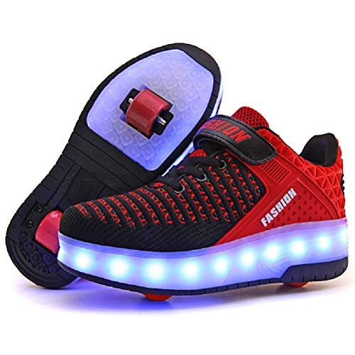 f21c2fa85ca09 Ufatansy LED Shoes USB Charging Flashing Sneakers Light Up Roller Shoes  Skates Sneakers with Wheels ...